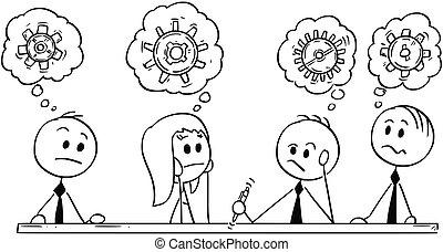 επιχείρηση , brainstorming , γελοιογραφία , συνάντηση , ζεύγος ζώων