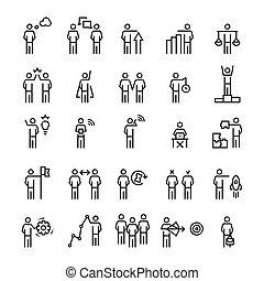 επιχείρηση , style., άνθρωποι , στρατηγική , θέτω , εικόνα , διεύθυνση , γραμμή
