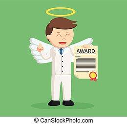 επιχειρηματίας , άγγελος , πιστοποιητικό , βραβείο
