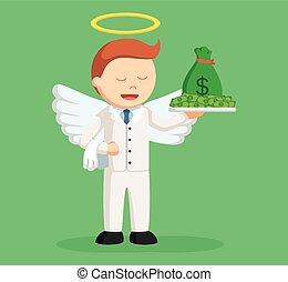 επιχειρηματίας , άγγελος , χρήματα