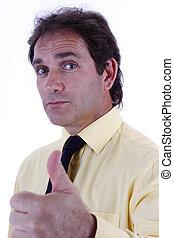 επιχειρηματίας , αντίστοιχος δάκτυλος ζώου , χειρονομία , πάνω