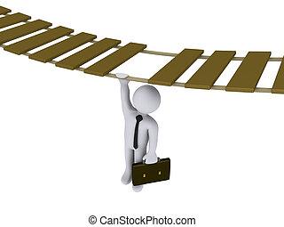 επιχειρηματίας , απαγχόνιση , από , ένα , ανέβαλλα , γέφυρα