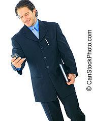 επιχειρηματίας , απασχολημένος , απομονωμένος , νέος