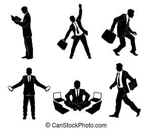 επιχειρηματίας , απεικονίζω σε σιλουέτα , έξι