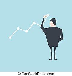 επιχειρηματίας , αποσύρω , growth., γραφική παράσταση