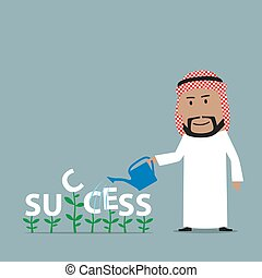 επιχειρηματίας , αραβικός , grows, επιτυχία