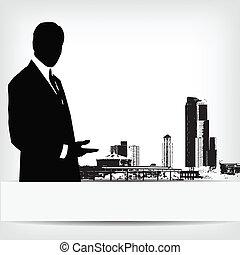 επιχειρηματίας , αφαιρώ , περίγραμμα , φόντο