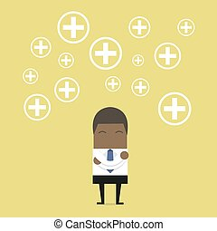 επιχειρηματίας , αφρικανός , θετικός , thinking.