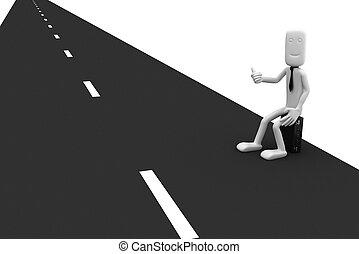 επιχειρηματίας , βαρύνω , άκρα του δρόμου