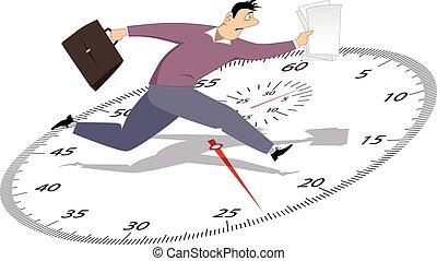 επιχειρηματίας , βιασύνη