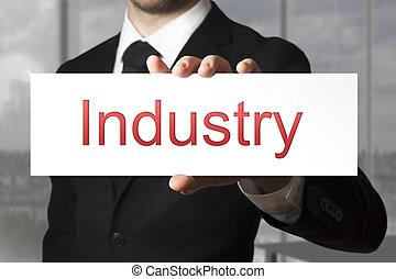 επιχειρηματίας , βιομηχανία , κράτημα , σήμα