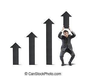 επιχειρηματίας , βοήθεια , στατιστικός