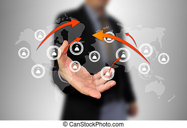 επιχειρηματίας , δίκτυο , κράτημα , κοινωνικός