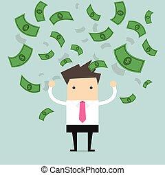 επιχειρηματίας , δολάριο , λώτ