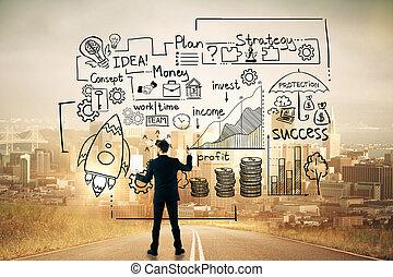 επιχειρηματίας , δραμάτιο , ζωγραφική , επιχείρηση