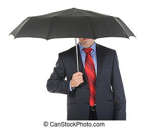 επιχειρηματίας , εικόνα , ομπρέλα