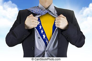 επιχειρηματίας , εκδήλωση , bosnia και herzegovina , σημαία...