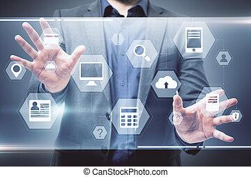 επιχειρηματίας , επεμβαίνω , επιχείρηση , χρησιμοποιώνταs , ψηφιακός
