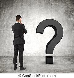 επιχειρηματίας , ερωτηματικό