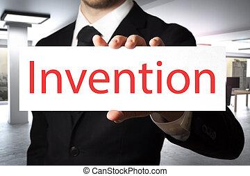 επιχειρηματίας , εφεύρεση , κράτημα , σήμα