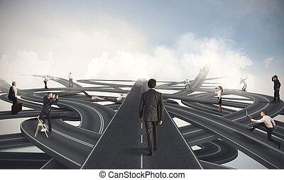 επιχειρηματίας , εύκολος , δρόμος