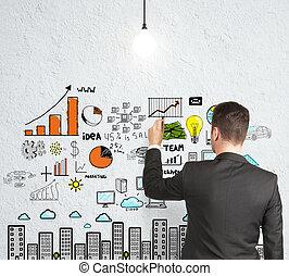 επιχειρηματίας , ζωγραφική , στρατηγική