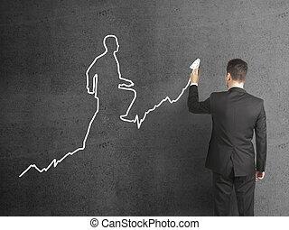 επιχειρηματίας , ζωγραφική , χάρτης