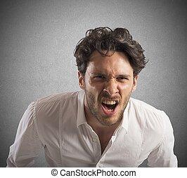 επιχειρηματίας , θυμωμένος , διασκεδαστικότατος άνθρωπος