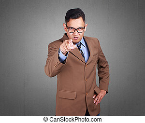 επιχειρηματίας , θυμωμένος , appointing, έκφραση
