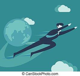 επιχειρηματίας , ιπτάμενος , sky.