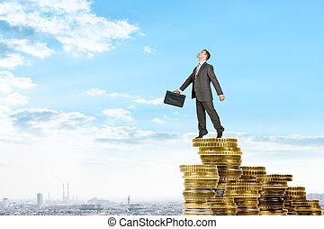 επιχειρηματίας , κέρματα , ενισχύω