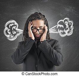 επιχειρηματίας , καπνός , εγκέφαλοs
