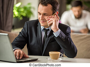 επιχειρηματίας , καφετέρια
