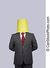 επιχειρηματίας , κεφάλι , κουβάς