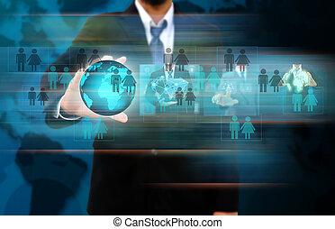 επιχειρηματίας , κόσμοs , δίκτυο , κράτημα , κοινωνικός