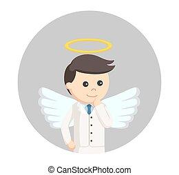 επιχειρηματίας , κύκλοs , άγγελος , φόντο