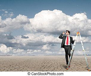 επιχειρηματίας , μέσα , ψάχνω , από , επιχείρηση