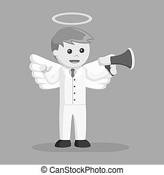 επιχειρηματίας , μεγάφωνο , άγγελος
