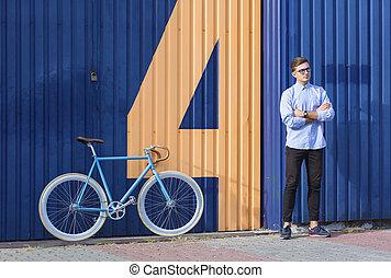 επιχειρηματίας , ποδήλατο