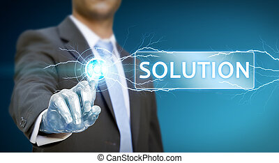 επιχειρηματίας , ρομπότ , χέρι