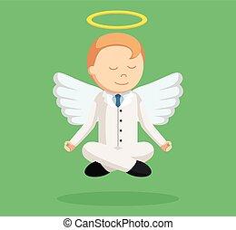 επιχειρηματίας , σκέπτομαι , άγγελος , ιπτάμενος
