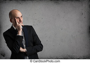 επιχειρηματίας , σκεπτόμενος