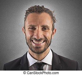 επιχειρηματίας , χαμογελαστά , έκφραση