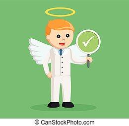 επιχειρηματίας , checklist , άγγελος , σήμα