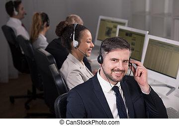 επιχειρηματίας , headset
