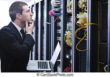 επιχειρηματίας , laptop , δωμάτιο , δίκτυο ακόλουθος