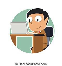 επιχειρηματίας , laptop , ινδός , κύκλοs