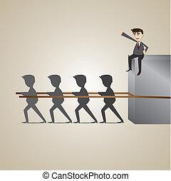 επιχειρηματίας , teammate , γελοιογραφία , exploiting
