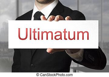 επιχειρηματίας , ultimatum, κράτημα , σήμα
