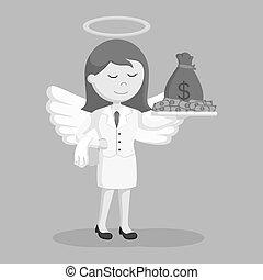 επιχειρηματίαs γυναίκα , άγγελος , χρήματα